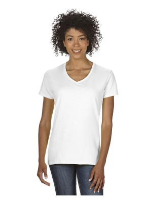 Gildan #G500VL Gildan Ladies' Heavy Cotton™ 5.3 oz. V-Neck T-Shirt
